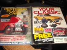 2 COLLECTABLE MAGAZINES RESTORING CLASSIC CARS & YOUR CLASSIC APRIL 1993 STAG